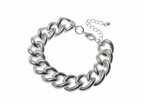 Chunky Worn Silver Bracelet