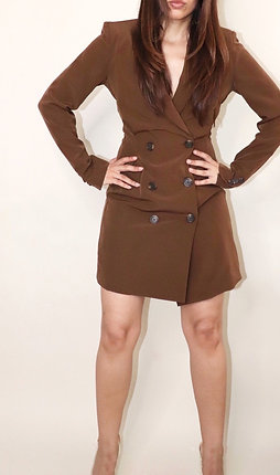 BROWN BLAZER DRESS