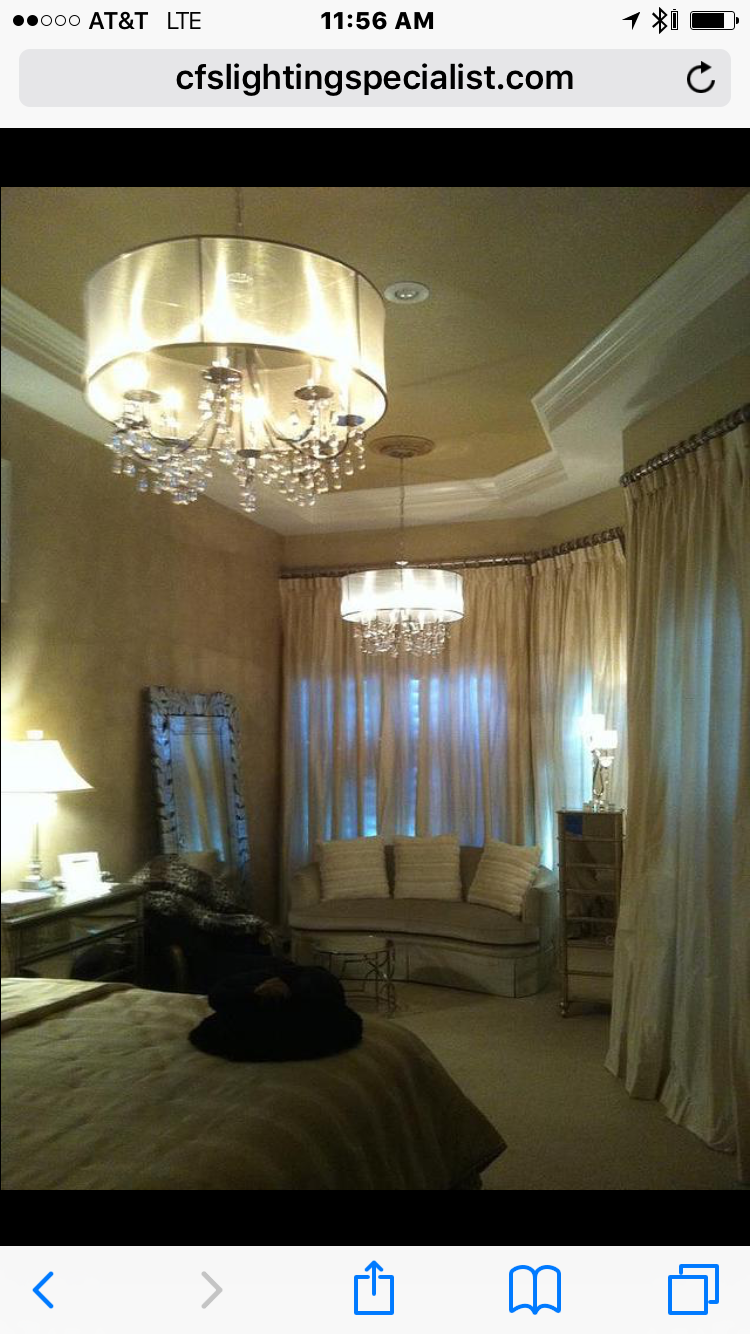 Interior lighting and custom drapes