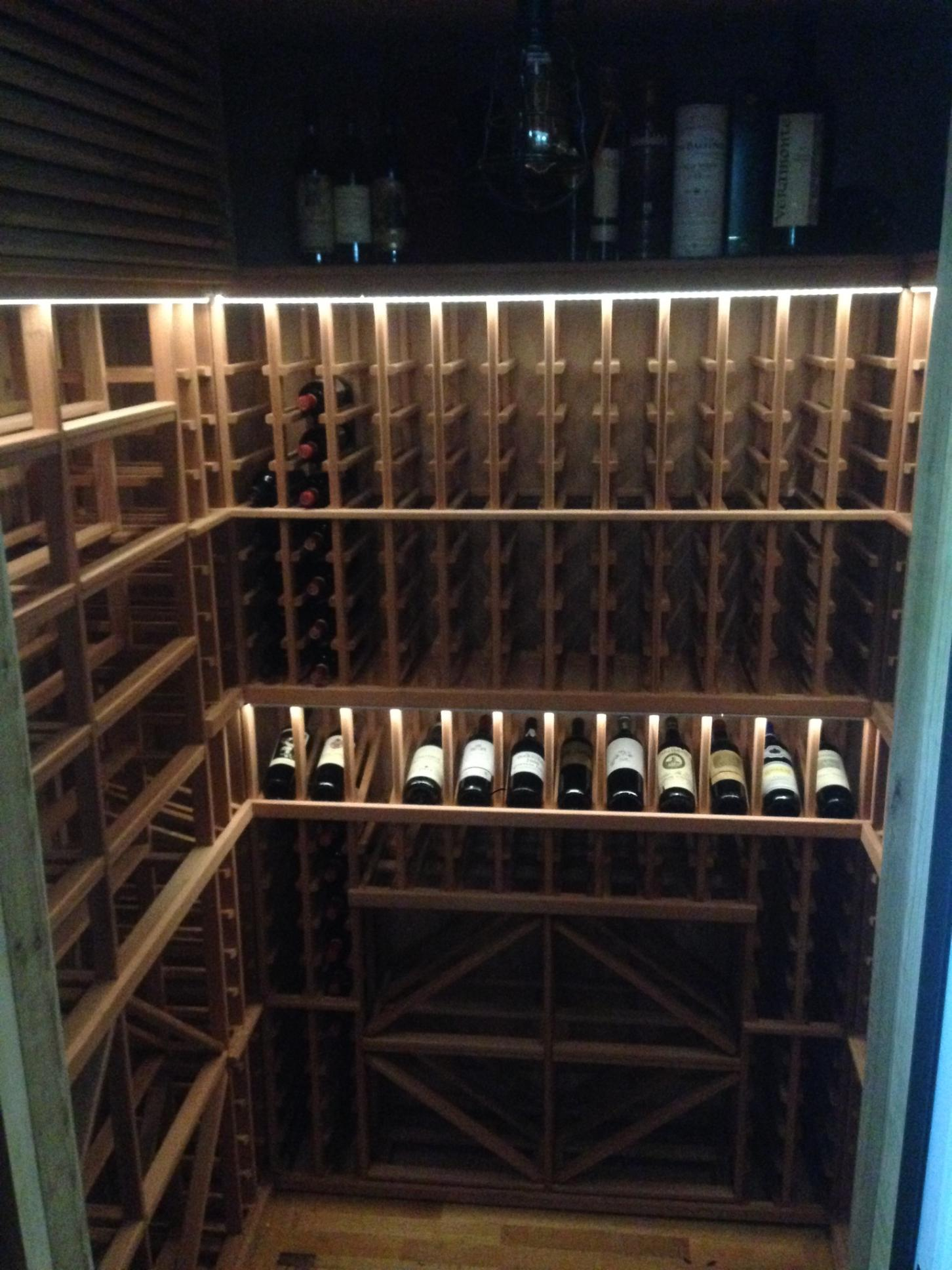 LED Lighted Wine Cellars