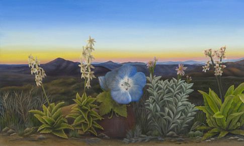 "East County San Diego (Panel 1). Oil on Canvas, 60"" x 36"", 2021"