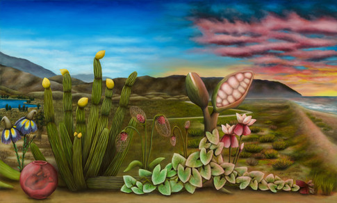"South Bay, San Diego (Panel 2). Oil on Canvas, 60"" x 36"", 2019."