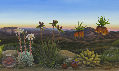 "East County San Diego (Panel 2). Oil on Canvas, 60"" x 36"", 2021"