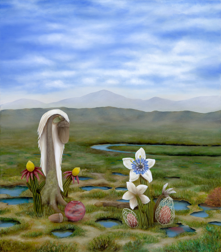 "Sweetwater Marsh, San Diego. Oil on Canvas, 35"" x 40"", 2020"