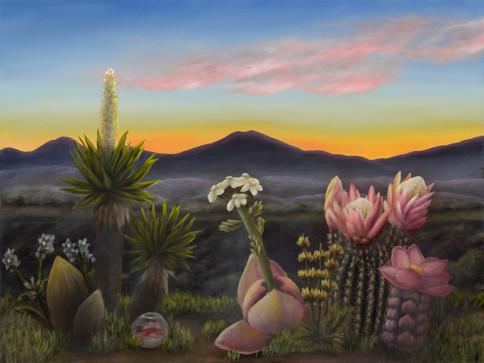 """Mid-City, San Diego. Oil on Canvas, 24"""" x 18"""", 2021"""