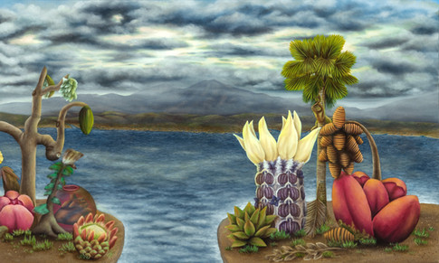 """Central San Diego (Panel 2). Oil on Canvas, 60"""" x 36"""", 2020. (SOLD)"""