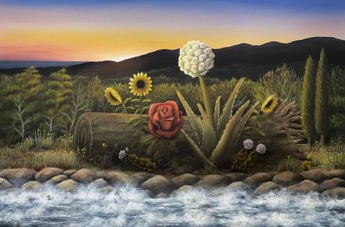 "Lifeline. Oil on Canvas, 20"" x 30"", 2021 (Commission)"