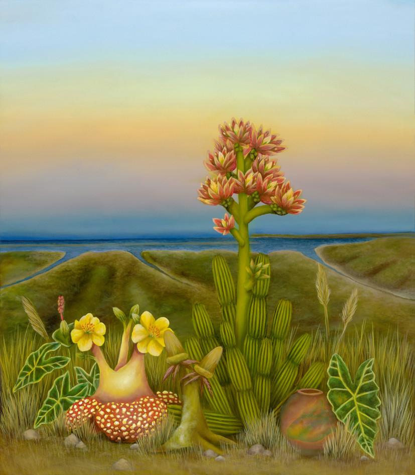 """National City, San Diego. Oil on Canvas, 35"""" x 40"""", 2020"""