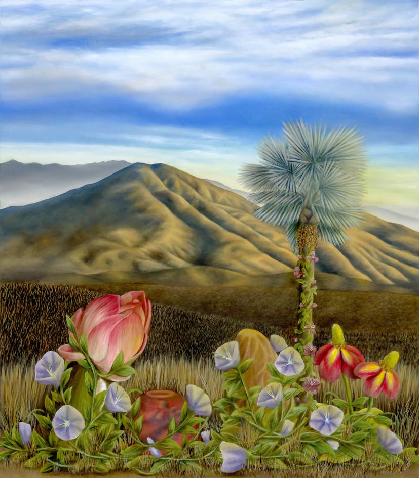 "Spring Valley, San Diego. Oil on Canvas, 35"" x 40"", 2020"