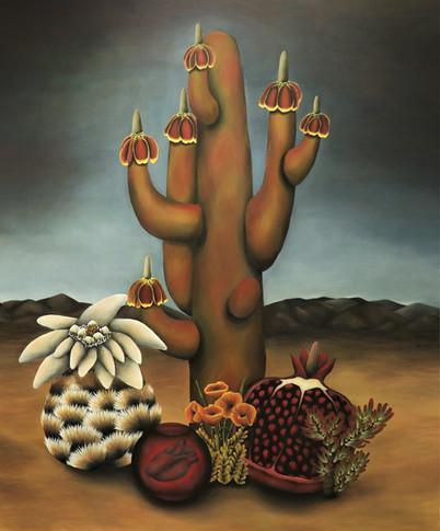 """Germexicarian ll. Oil on Canvas, 60"""" x 72"""", 2018."""