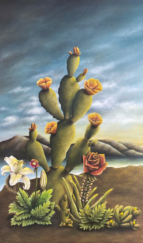 "Mark Lopez. Oil on Canvas, 18"" x 30"", 2020. (Commission Piece)"