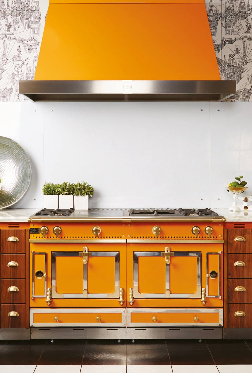 la-cornue-orange-gas-cooker-