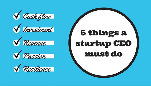 5 things a startup CEO must do