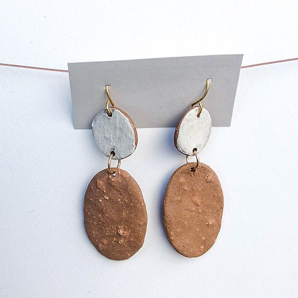 Dot and Oval Earrings