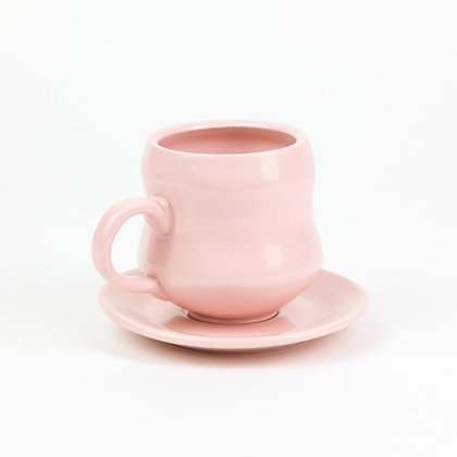 Kathryn Reeves - Pink Cup and Saucer Set