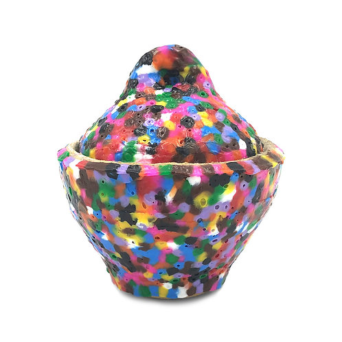"Stephanie Lenertz ""Perler Bead Covered Jar (Dry Interior)"""