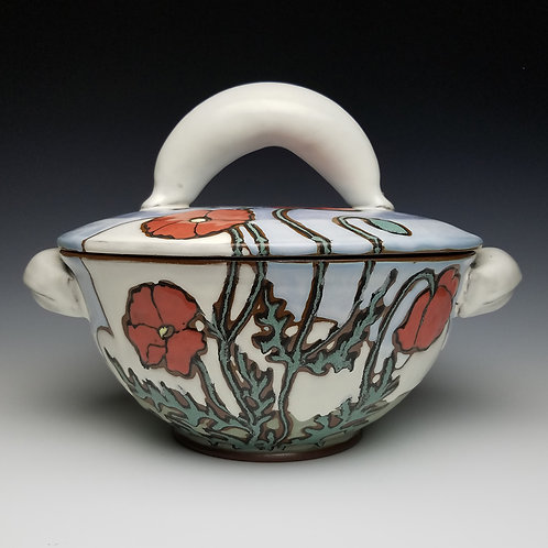 "Maya Moen ""Tureen with Poppies"""