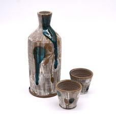 Blue Drip Bottle & Cup