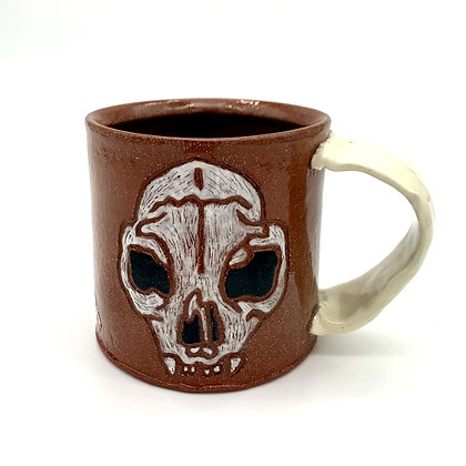 Megan and Ryan  Caldwell Collab - Cat Skull Mug