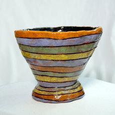 """Taussen Brewer -Swirlie Bowl Earthenware, underglaze Oxidation 7"""" x 6"""" $200"""