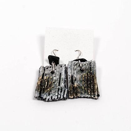 Grey Earrings w/ black stones