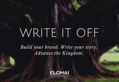 Write it off, an Initiative to build your brand, write your story, and advance the Kingdom