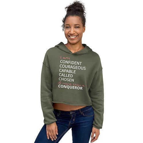 Confident Woman Crop Hoodie