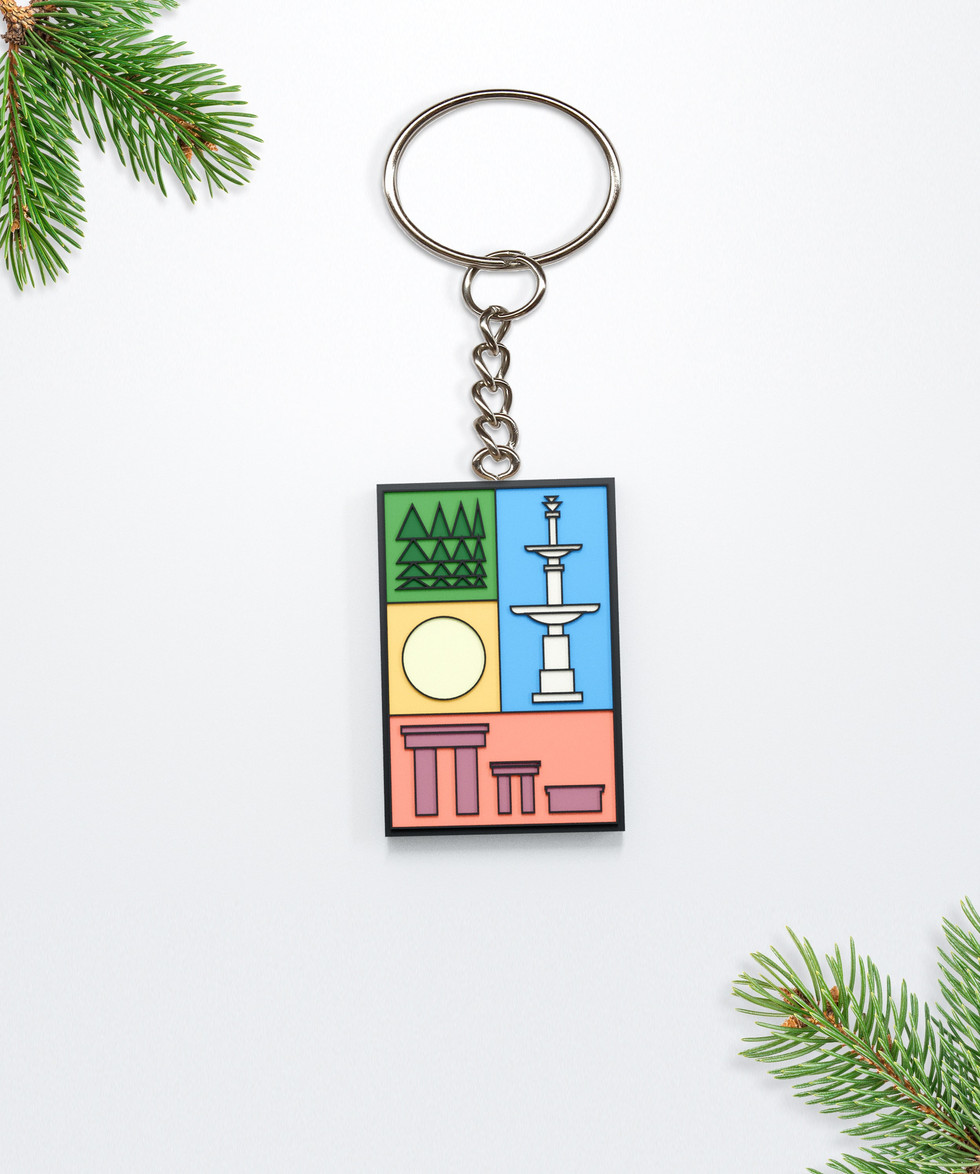 Colored rubber keychain 2