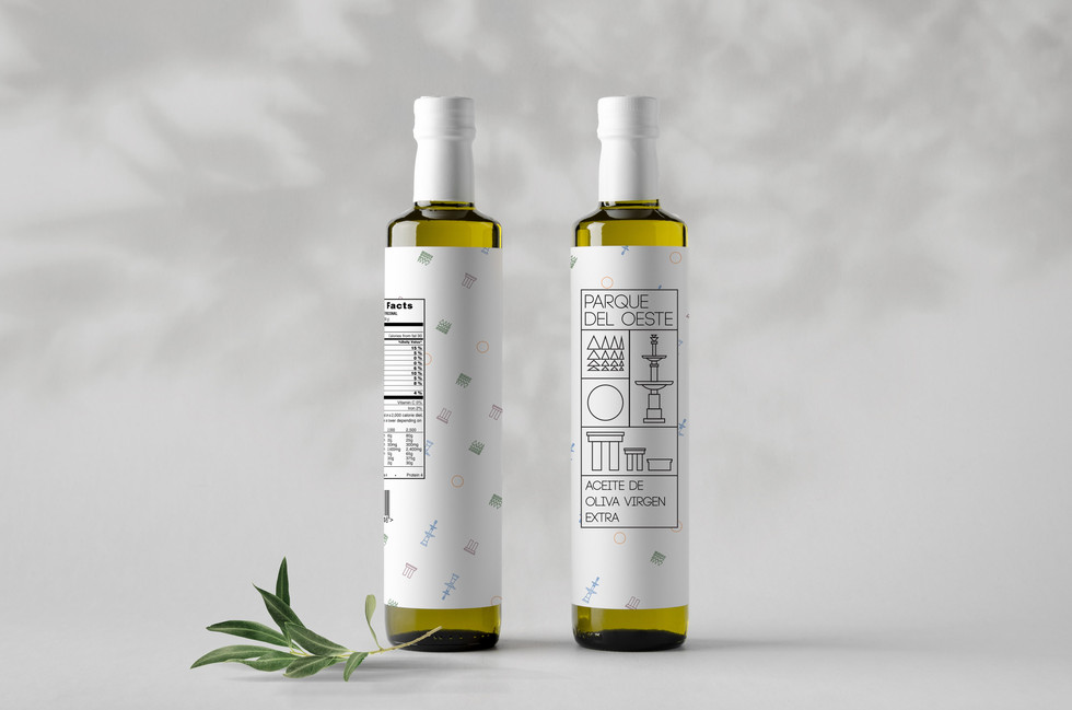 Olive oil merchendise packaging design