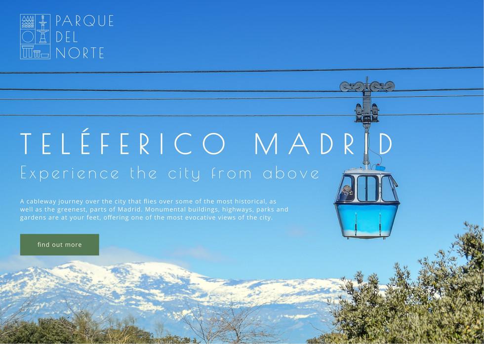 Teleférico Madrid Promotional Material
