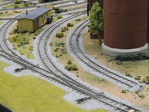 Caboose Industries ground throws installed on a layout