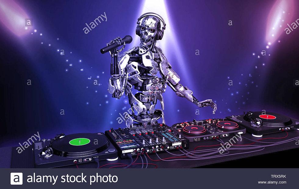 dj-robot-disc-jockey-cyborg-with-microph