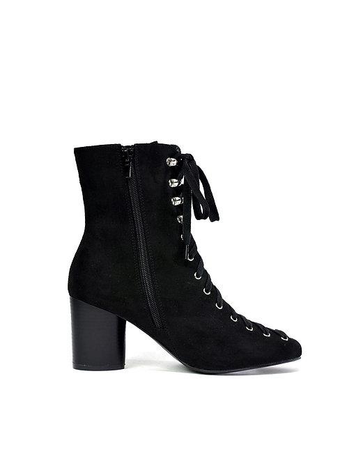 Ladies New Block Heel Front Lace Up Design