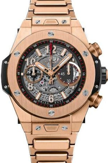 HUBLOT BIG BANG UNICO ROSE GOLD ON BRACELET