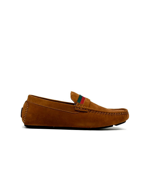 Dual Stripe Loafer Camel