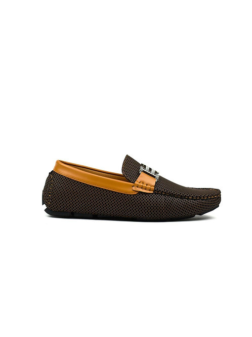 Double H Buckle Loafer Tan