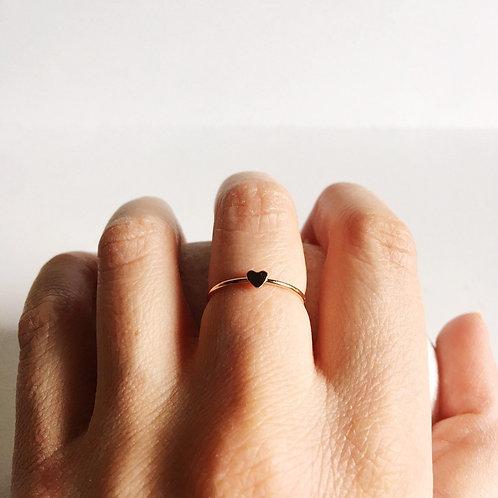 14k Rose Gold Filled Mini Heart Ring