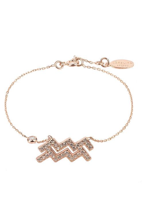 Zodiac Horoscope Star Sign Bracelet Aquarius