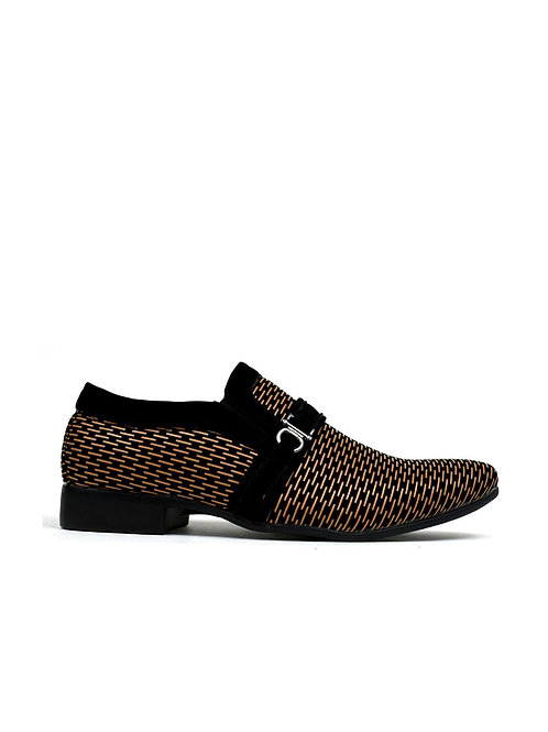 Unique Lined Slip on Brown