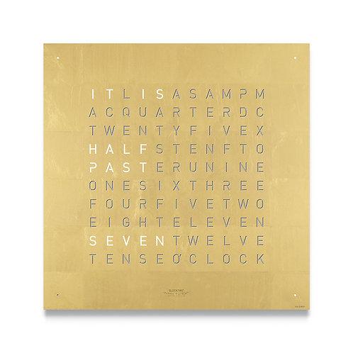 QLOCKTWO Classic Creators Edition Clock - Gold
