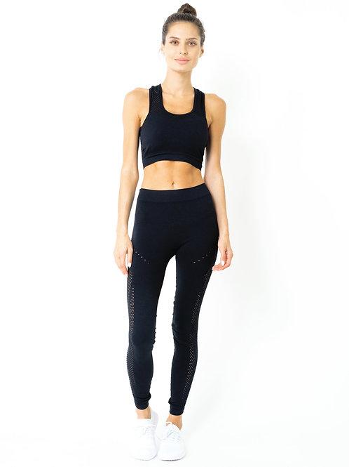 Milano Seamless Set - Leggings & Sports Bra - Black