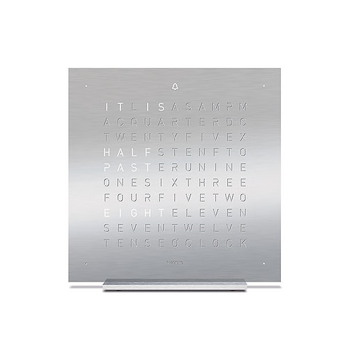 QLOCKTWO Touch Metal Table Clock - Full Metal