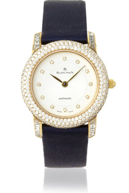 BLANCPAIN VILLERET LADY ULTRA THIN YELLOW GOLD DIAMOND BEZEL