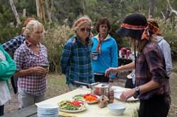 Women of Wander feasting at Glenelg