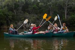 Celebrating on the Glenelg River