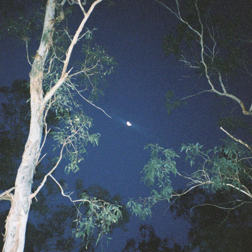 Moon night sky dark