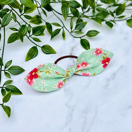 Mia Floral Mini Knot Hair Tie