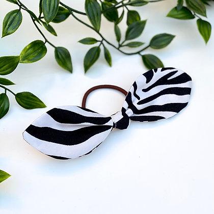 Wild Style Zebra Mini Knot Hair Tie