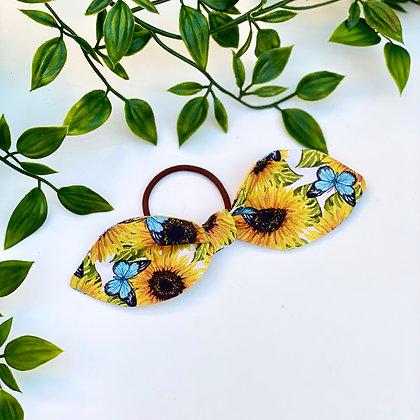 Sunflower Power Mini Knot Hair Tie