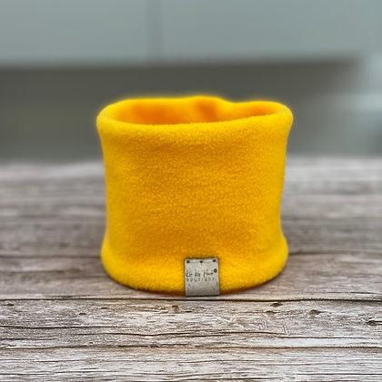 Sunny Yellow Fleece Dog Snood